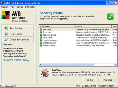 AVG Anti-Virus Free Edition