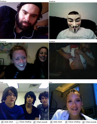 Chatroulette Jonas Brothers y Jessica Alba