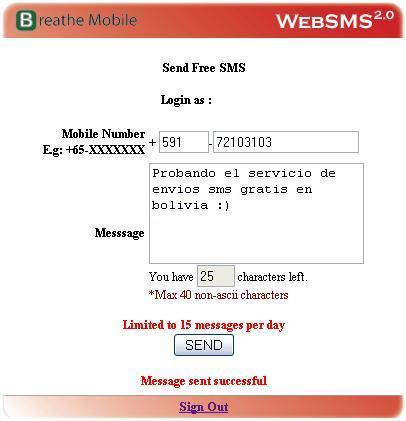 Como mandar mensajes SMS gratis x Internet